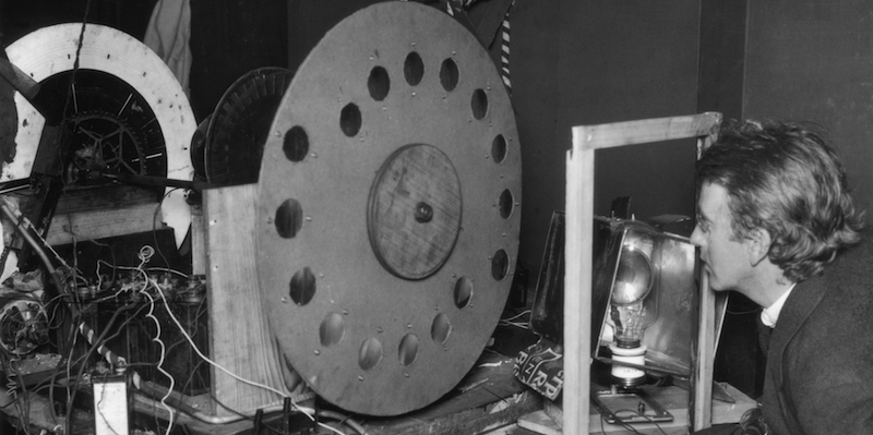 Un modello di televisore inventato da John Logie Baird. (Hulton Archive/Getty Images)