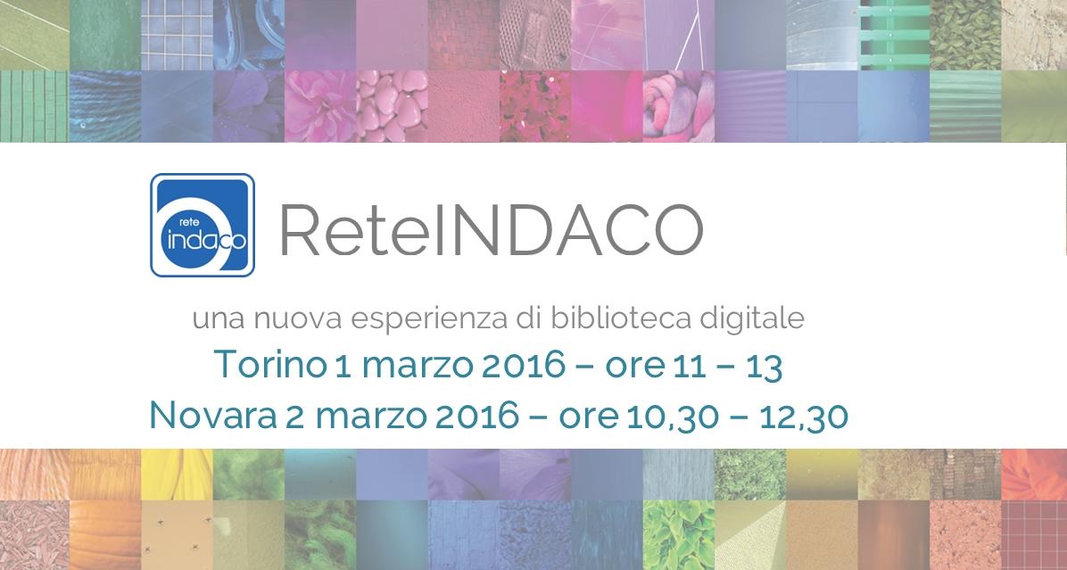 ReteINDACO INCONTRI, Torino e Novara – marzo 2016
