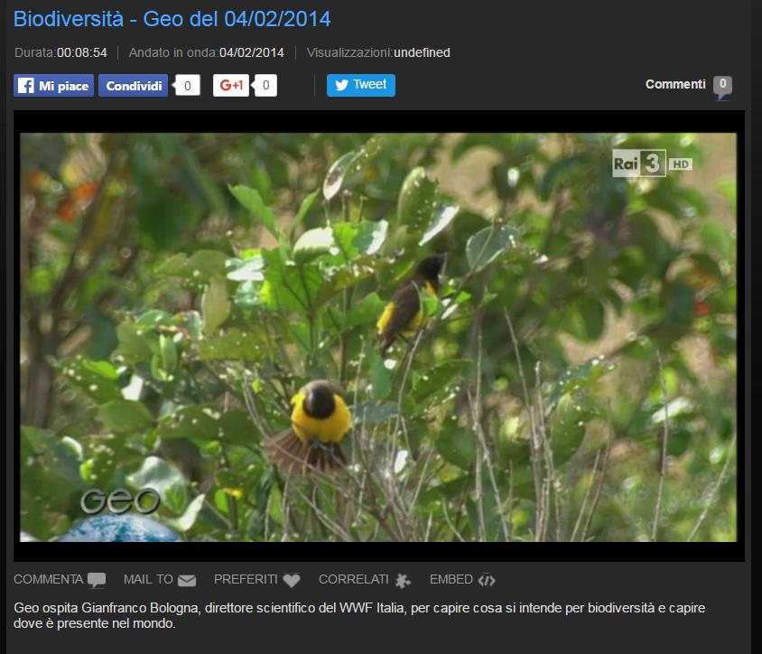 Giornata della biodiversità
