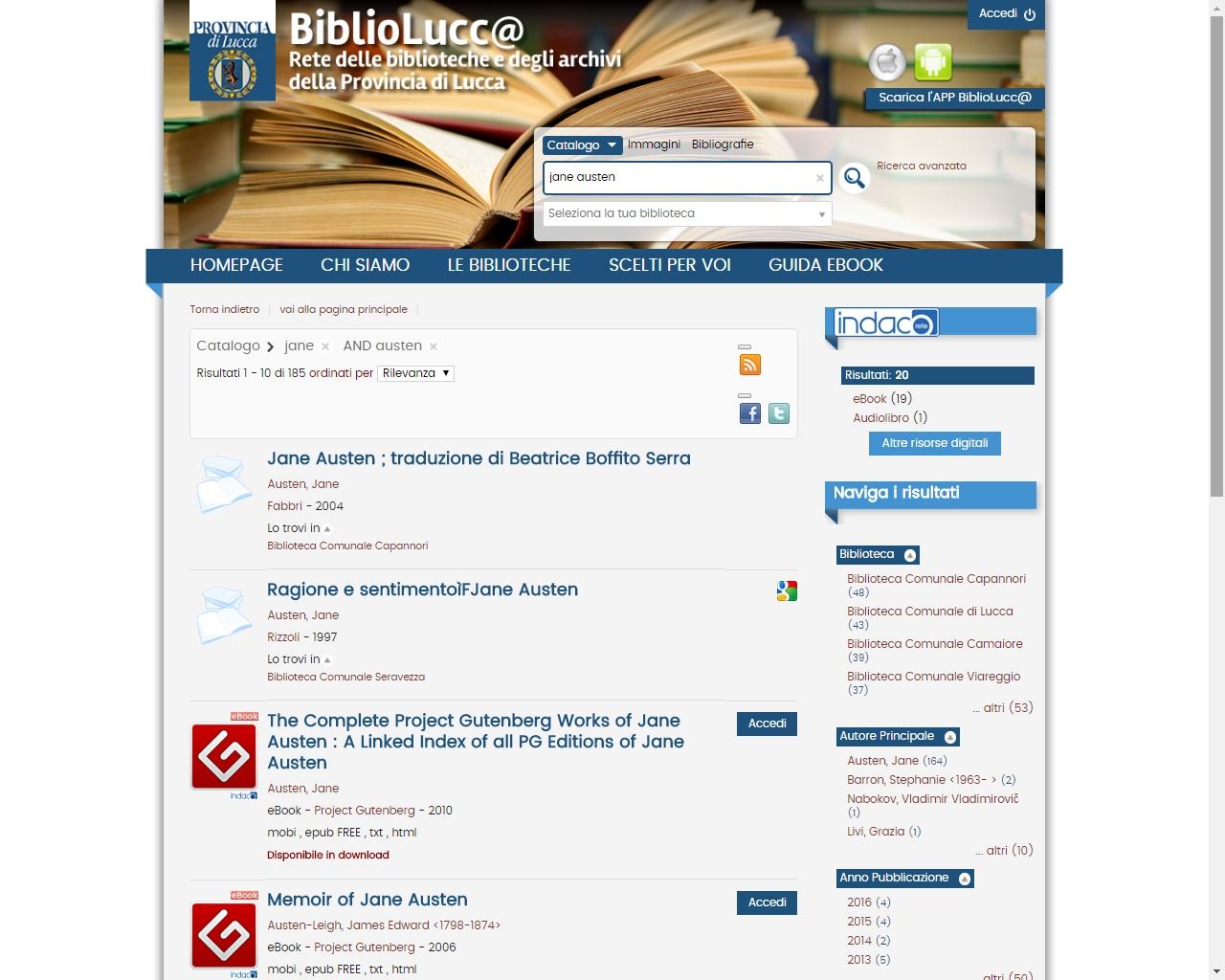 ReteINDACO novità biblioteca digitale
